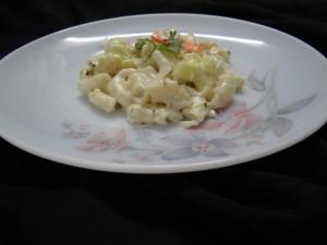veggie whit sauce pasta