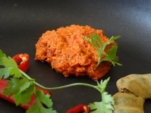 Raw tamarind and red chili chutney