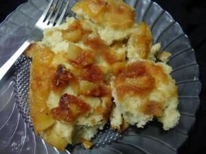 No oven upside down apple cake