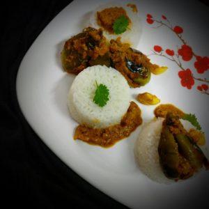 Eggplant tangy oily gravy